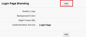 Customize branding page