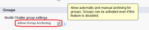Allow Group Archiving
