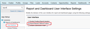 Export Reports Without Footers