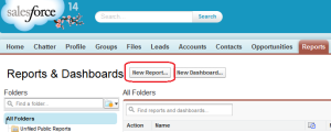 New Report button