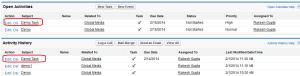 Recurring Tasks created by Salesforce
