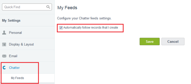 Automatically follow records that I create