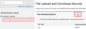 Enable File Upload and Download Security - Step 1