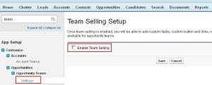 Enable Team Selling