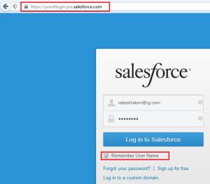 Login Into Salesforce