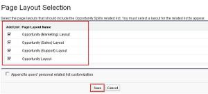Opportunity Splits related list to Opportunity Page layout