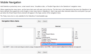 Add Visualforce Tab into Mobile Navigation