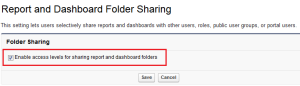 Report and Dashboard Folder Sharing