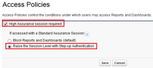 Access Policies for Reports and dashboards