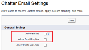 Disable Chatter and Replies Email Notification