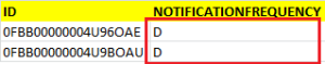 Modify Notification Frequency on .Csv File
