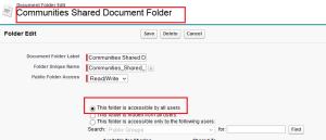 Communities Shared Document Folder