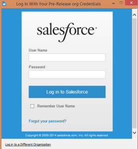 Log in with your Salesforce credentials.