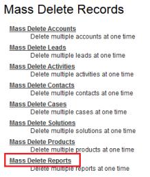 Mass Delete Records