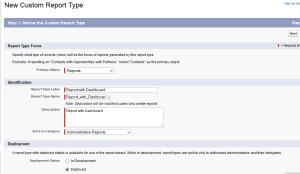 Custom report types