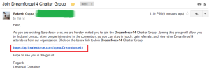 Chatter Group Invitation Email
