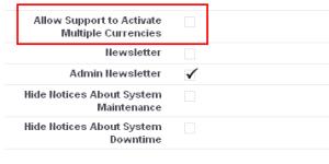 Enabling Multiple Currencies