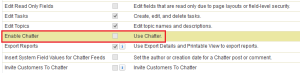 Enable Chatter Permission