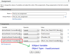 Assign details in one SObject variable