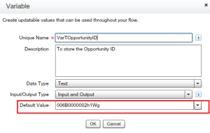 Set Default Value to a Variable