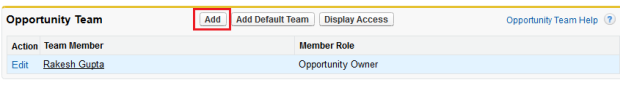 Add New member into Opportunity Team
