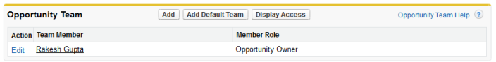 Opportunity Team with no Member