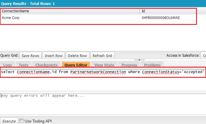 SOQL Query - To get Partner Network Connection Id