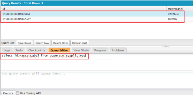SOQL Query - To get Split Type Revenue Id