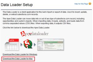 Data Loader Setup