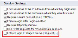 Enforce login IP ranges on every request