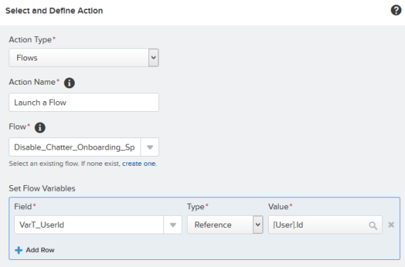 Add action – Flows
