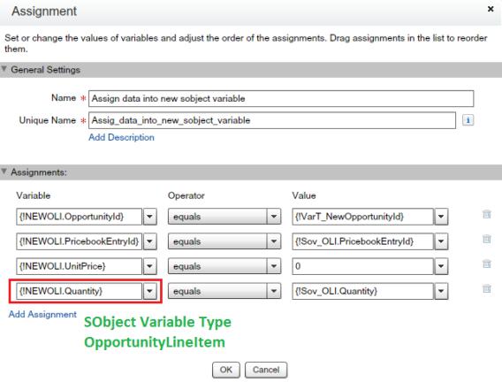 Assignment Element - Assign data