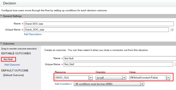 Decision Element - Check Collection Variable Size