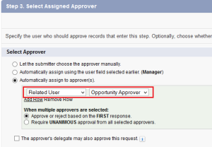 Select Assigned Approver