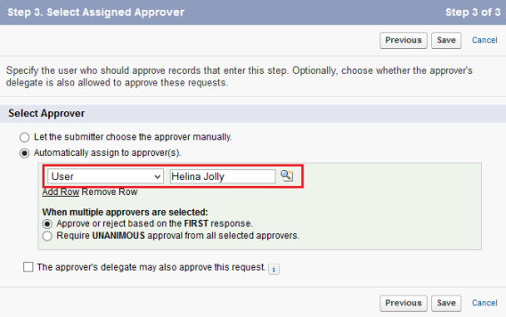 Static approval process