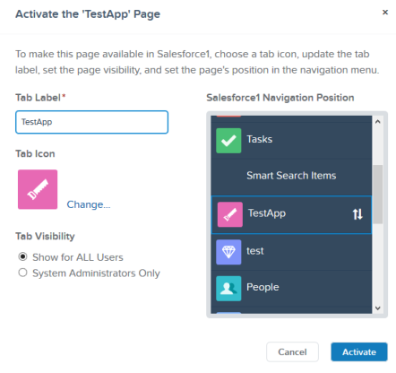Activate the Lighting Page