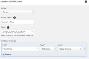 Add Action - Flows