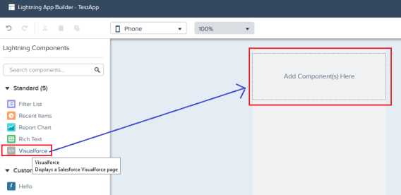 Add Standard Component to Lightning Page