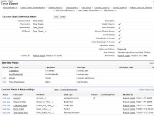Custom Object - Time Sheet
