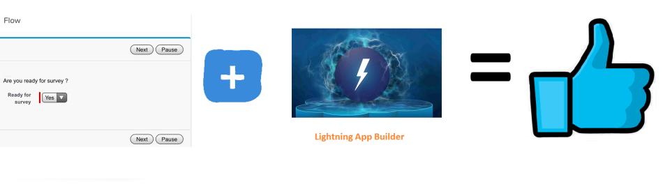 Flow and Lightning App Builder
