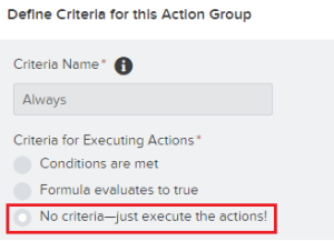 Process Criteria