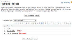 Add components to the Package