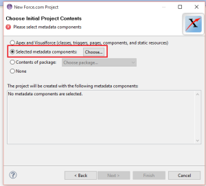 Select Metadata Components