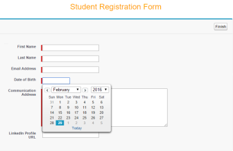 Student Registration Form - Without Date Picker