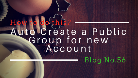 Auto Create a Public Group for new Account