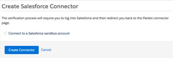 Connect to a Salesforce sandbox account