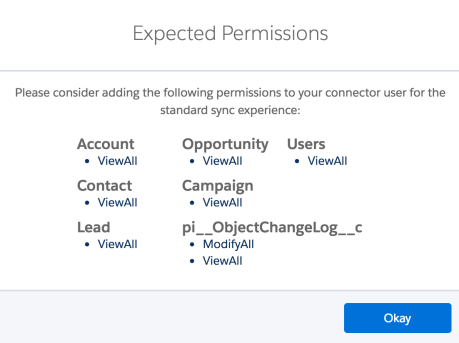 Permission for Connector User
