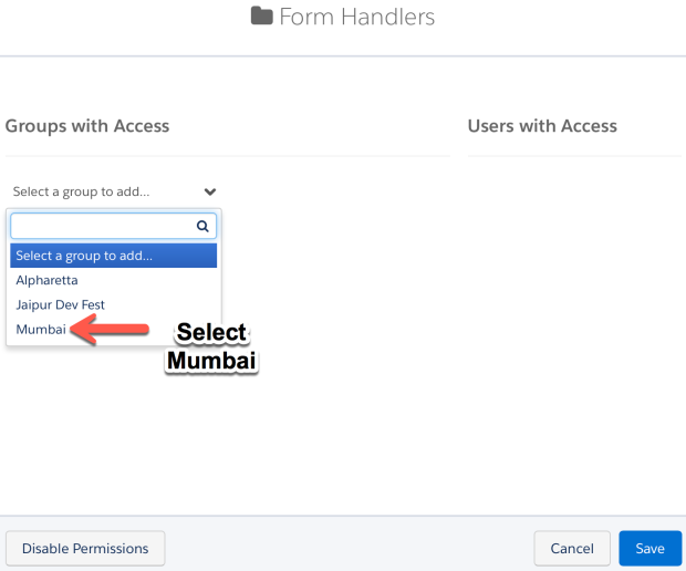Share folder with user group